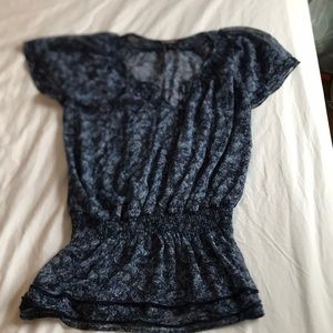 Express Navy Floral Tunic Size M